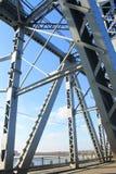 Detail der Brücke in Kremenchug, Ukraine Lizenzfreies Stockfoto