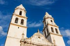 Detail der Campeche-Kathedrale, Mexiko lizenzfreie stockfotografie