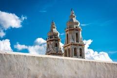 Detail der Campeche-Kathedrale, Mexiko lizenzfreie stockfotos