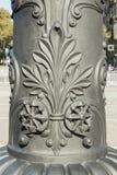 Detail der Dekoration schnitzte auf EisenStraßenlaternen in Barcelona-Ci Lizenzfreies Stockbild