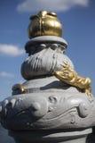 Detail der Eidechsen-Statue in Paris Lizenzfreie Stockbilder