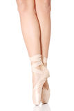 Detail der Füße des Balletttänzers Stockbild