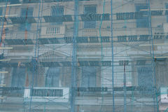 Detail der Fassade eines Altbaus Lizenzfreies Stockfoto