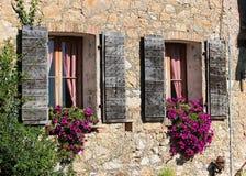 Detail der Fassade eines alten Hauses Lizenzfreie Stockbilder