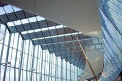 Detail der Fassade eines modernen Gebäudes, des Glases und des Metalls Lizenzfreies Stockfoto
