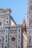 Detail der Fassade der Kathedrale von Florenz Stockfotos