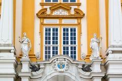 Detail der Fassade von Melk-Abtei, Österreich Lizenzfreies Stockfoto