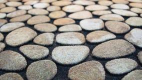 Detail der Fußmatte mit Kunststein Lizenzfreies Stockbild