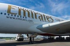 Detail der größten Flugzeuge in der Welt - Airbus A380 Stockfoto
