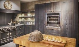 Detail der hölzernen Küche Lizenzfreies Stockbild
