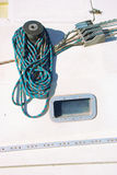 Detail der Handkurbel eines Segelboots Lizenzfreie Stockfotografie