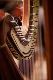Detail der Harfe stockbilder