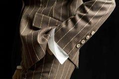 Detail der hergestellten Jacke der Frau Lizenzfreies Stockfoto