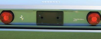 Detail der hinteren Ansicht klassisches Ferrari Mondial-Sportauto Stockbild
