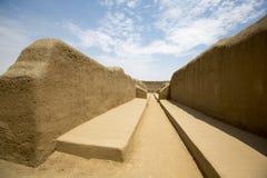 Detail der historischen Stadt von Chan Chan, Trujillo Lizenzfreie Stockfotografie