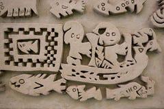Detail der historischen Stadt von Chan Chan, Trujillo Stockbilder