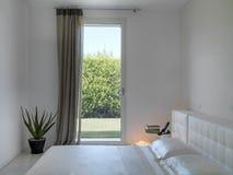 Detail der Innenansicht eines modernen Schlafzimmers Stockfotografie