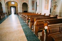 Detail der Innenkathedrale von HeiligJungfrau Maria in Minsk, Bela Lizenzfreie Stockfotos