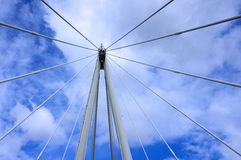 Detail der Jahrtausendbrücke Stockfotos