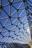 Detail der künstlerischen Brücke in der Zsolnay-Mitte in Pecs Lizenzfreie Stockbilder