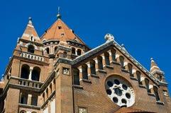 Detail der Kathedrale in Szeged, Ungarn Stockfotos