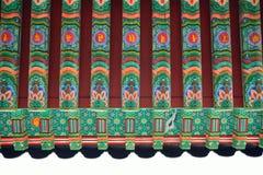 Detail der koreanischen traditionellen Architektur Lizenzfreie Stockfotos