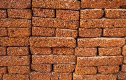 Detail der Laterite-Steinwand, Hintergrund Lizenzfreie Stockfotos