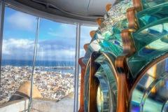 Detail der Leuchtturmlaterne Stockbild