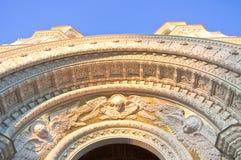 Detail der Marinekathedrale von Sankt Nikolaus in Kronstadt. stockfotos