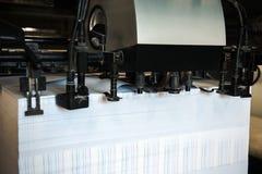 Detail der Maschine der Rollen im Offsetverfahren Druck Stockbild