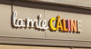 Detail der Mie Caline-Marke an einem Sommertag Stockbilder