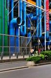 Detail der Mitte de Pompidou lizenzfreie stockbilder