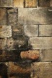 Detail der mittelalterlichen Wand mit Blöcken Stockfotografie