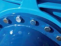 Detail der 500mm Getränkwasser-Gelenkeinheit mit Schrauben und Nüssen Kragenfitting Stockfotos