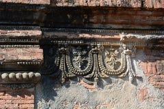 Detail der Nagayon-Tempeldekoration Bagan myanmar Lizenzfreies Stockbild