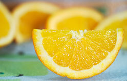 Detail der orange Scheibe Lizenzfreie Stockfotos