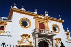 Detail der Piazzas de Toros, Sevilla, Spanien Stockbilder