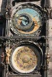 Detail der Prag-astronomischen Borduhr Lizenzfreie Stockfotos