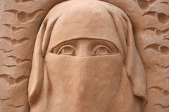 Detail der Sandskulptur Stockbilder