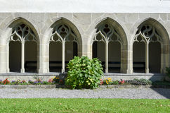 Detail der Schlosskirche in Interlaken Lizenzfreie Stockfotos