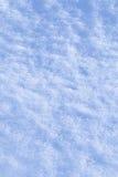 Detail der Schneebeschaffenheit mit Schatten Stockfotos