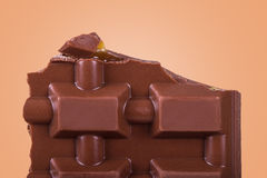 Detail der Schokolade Stockbild