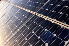 Detail der Sonnenkollektorbeschaffenheit stockbild