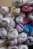 Detail der sortierten Socken Stockbild