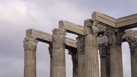 Detail der Spitze des Tempels von Zeus stock video