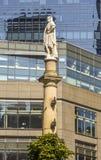 Detail der Statue bei Columbus Circle New York lizenzfreie stockfotografie