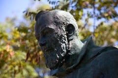 Detail der Statue der Feldgeistlichen Pio Lizenzfreies Stockfoto