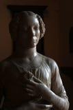 Detail der Statue der Frau in der Renaissanceära lizenzfreie stockfotos