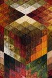 Detail der Steppdecke von den Diamantstücken Stockfotografie