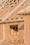 Detail der Struktur eines neuen Hauses Lizenzfreie Stockbilder